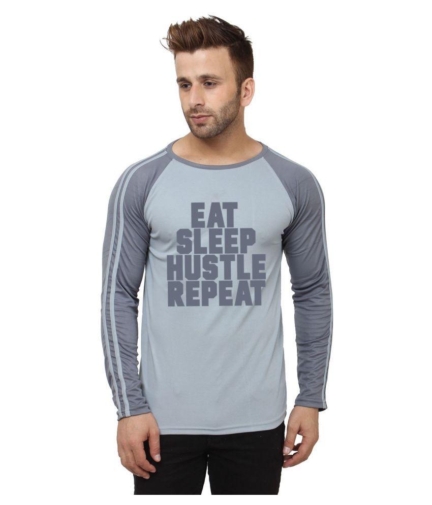 Hustle Grey Polyester T-Shirt Single Pack