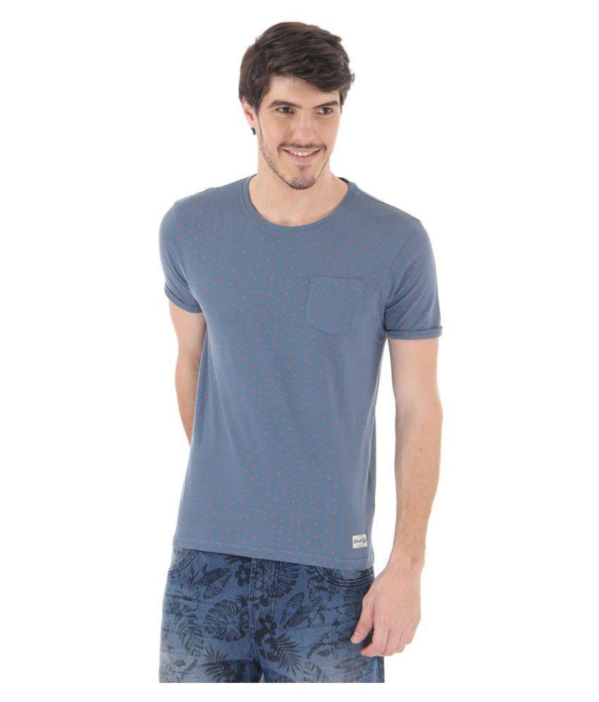 Flying Machine Blue Round T-Shirt