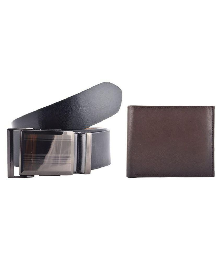 GLB Black Leather Formal Belts