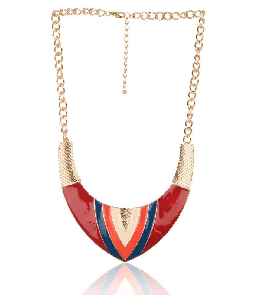 Diva Walk Multicolor Alloy Necklace