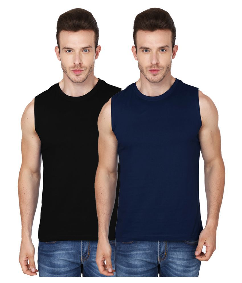 99tshirts Multi Round T-Shirt Pack of 2