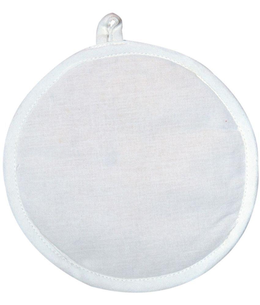 Ocean Collection White Plain Round Cotton Pot Holder