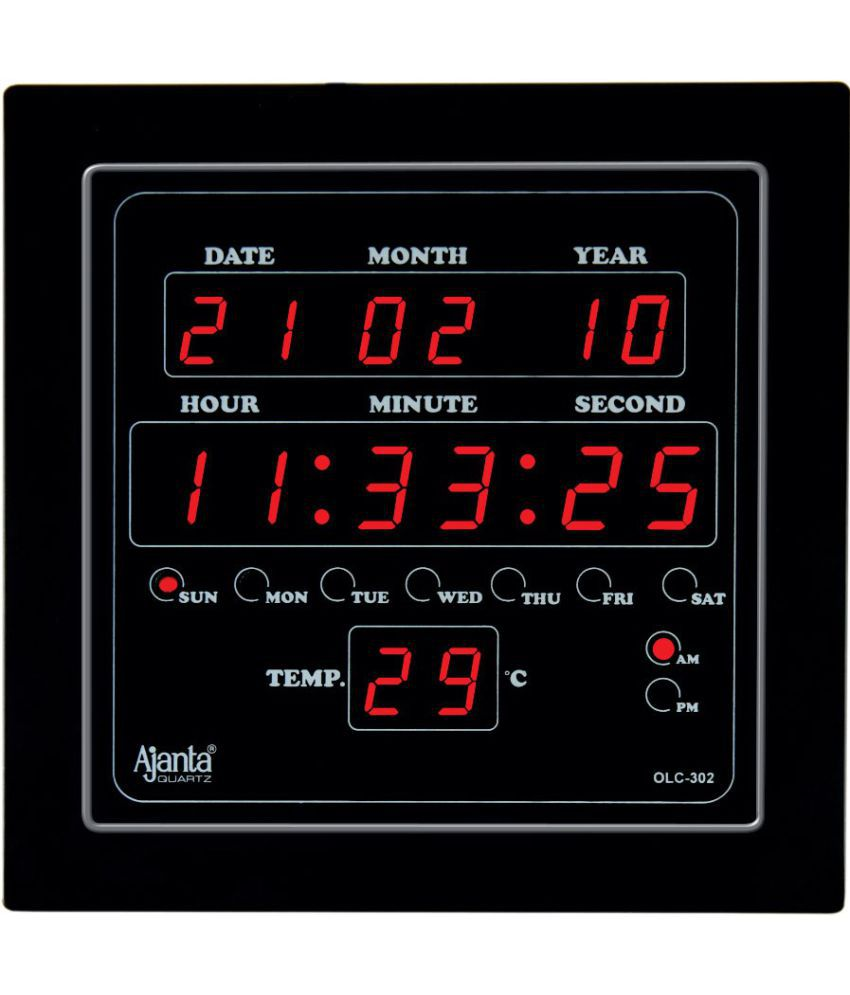Ajanta Square Digital Wall Clock Sachretails 302 0 Buy Ajanta