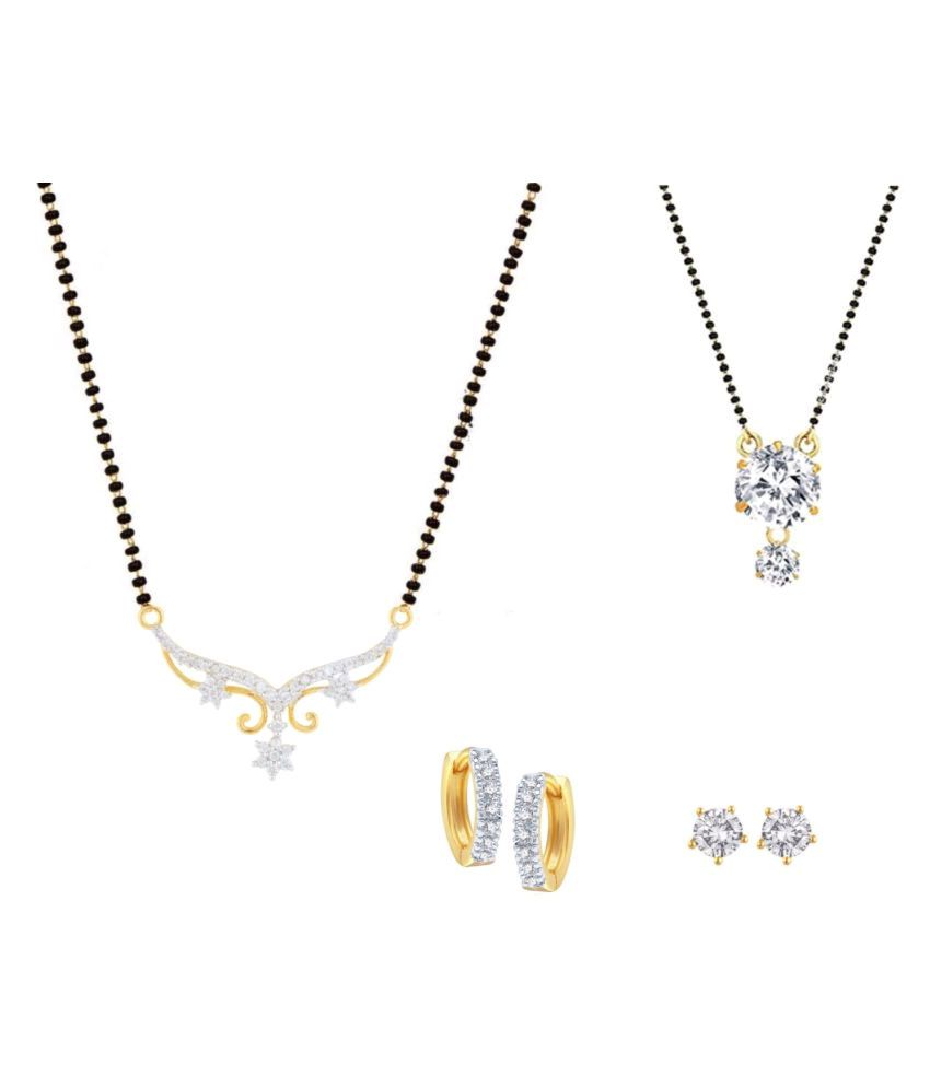 Efulgenz Multicolor Alloy 2 Mangalsutra With Earrings For Women