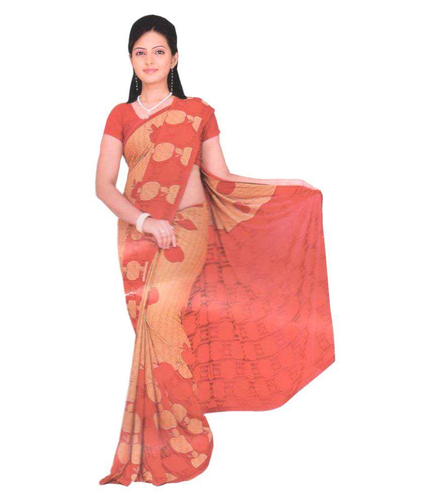 Queen Trends Multicoloured Synthetic Saree