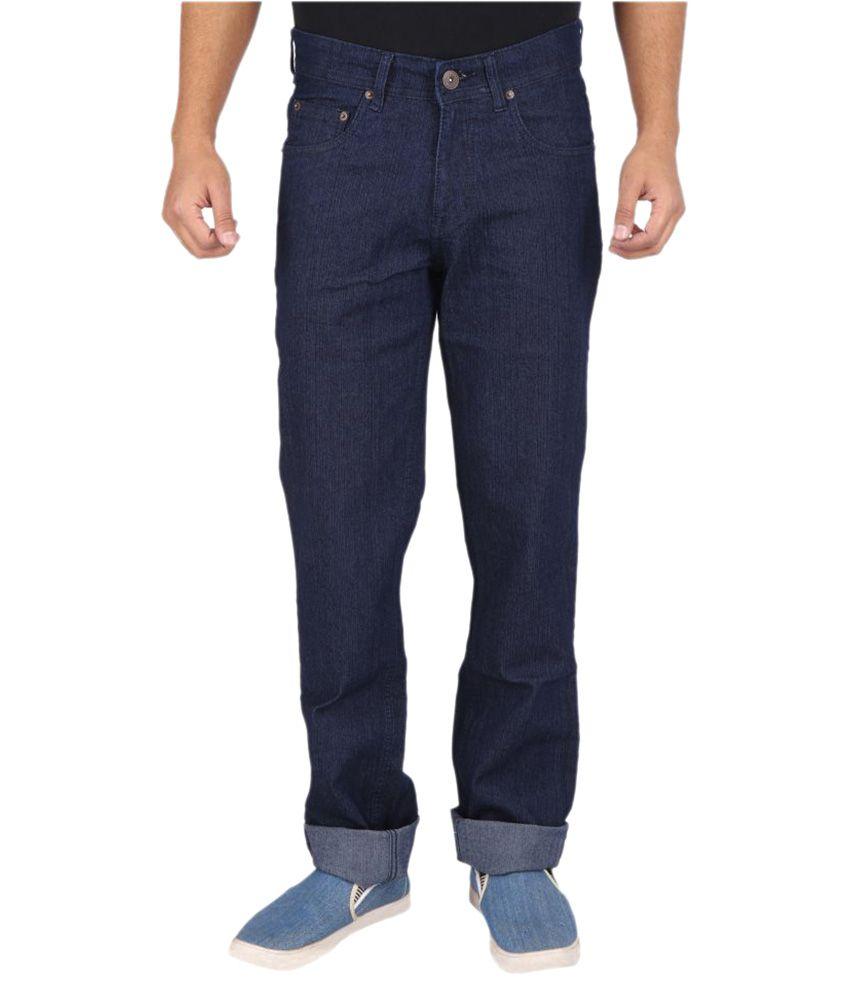 Wabba Dark Blue Regular Fit Jeans