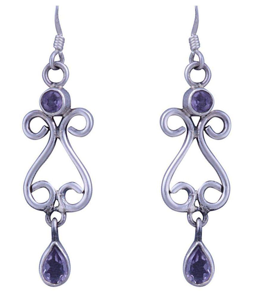Appealing Silver 92.5 Silver Amethyst Hangings