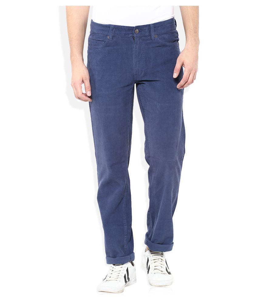 Woodland Blue Regular Flat Trouser