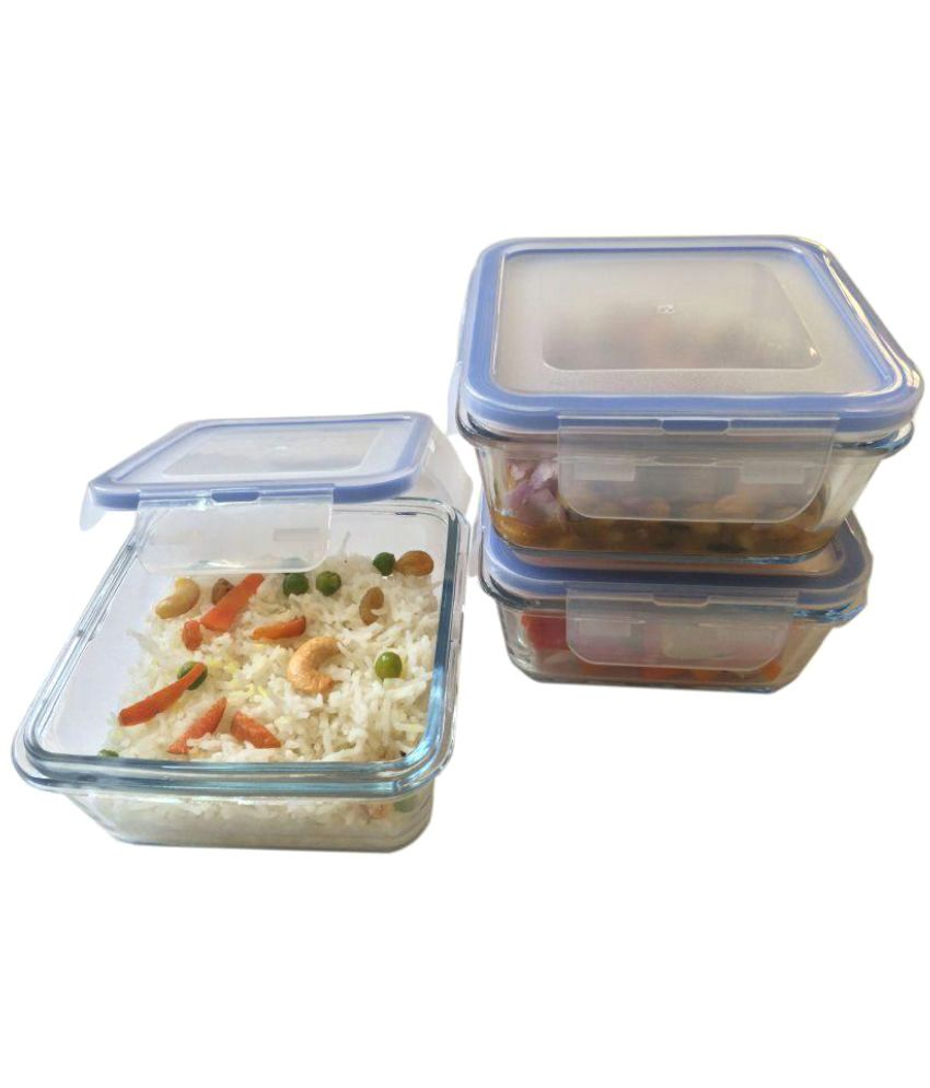 bfaa3c363b4 Vertis Transparent Glass Lunch Box  Buy Online at Best Price in India -  Snapdeal