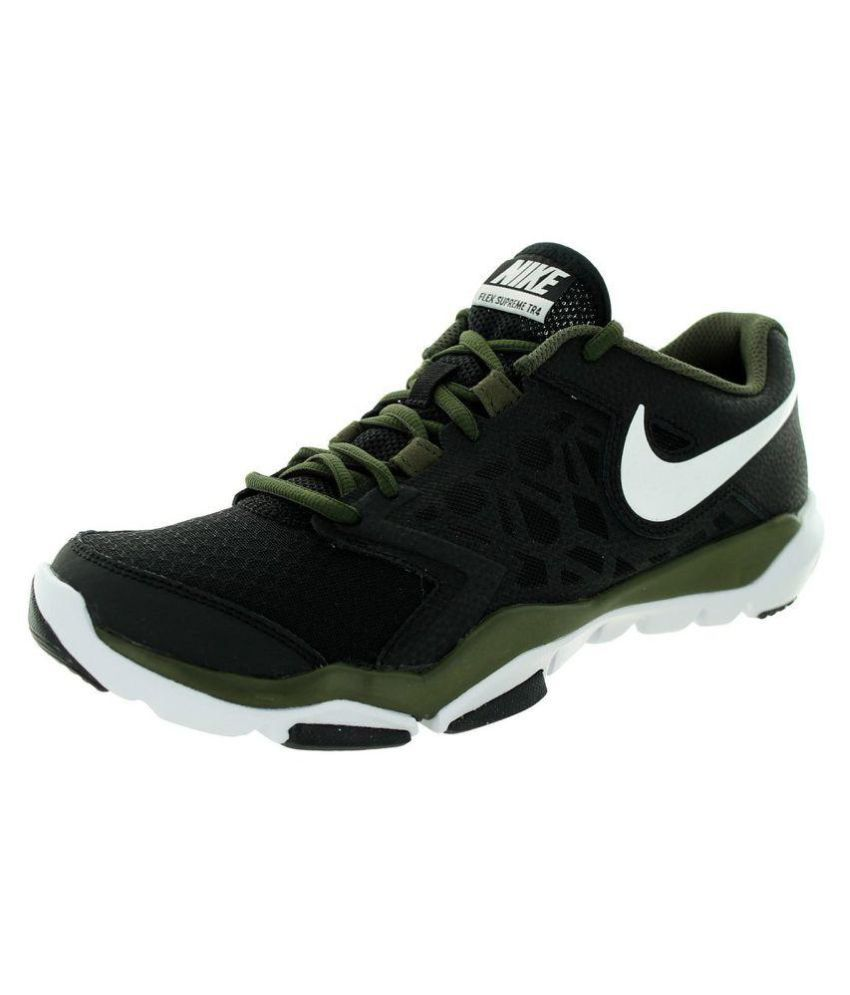 4b300e75f8d8 Nike Flex Supreme TR 4 Black Running Shoes - Buy Nike Flex Supreme TR 4  Black Running Shoes Online at Best Prices in India on Snapdeal