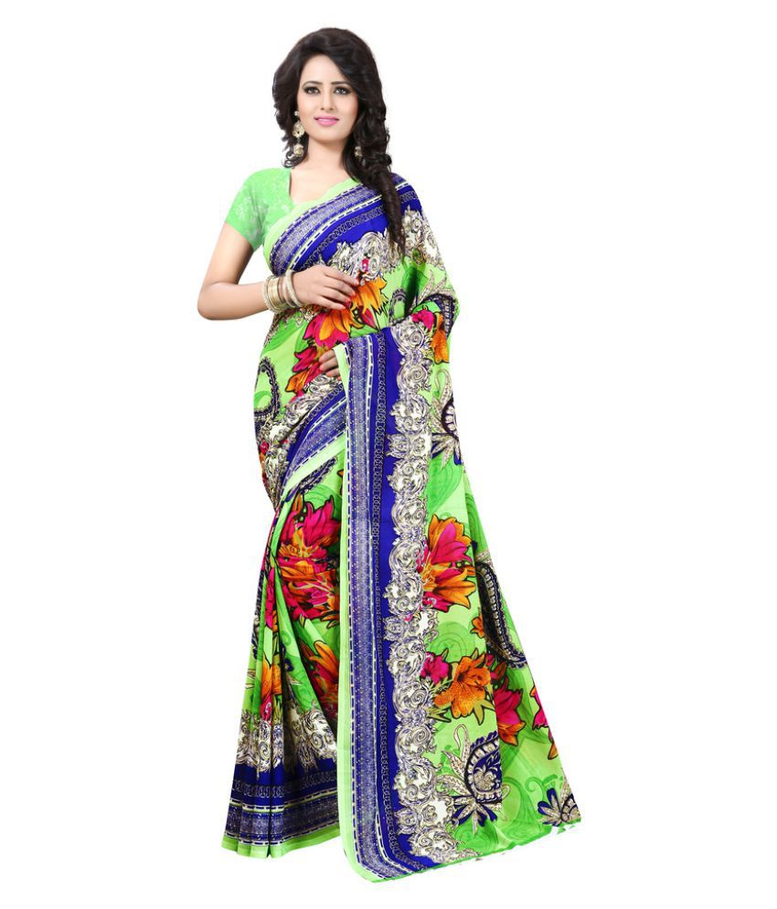 Snapshopee Multicoloured Georgette Saree