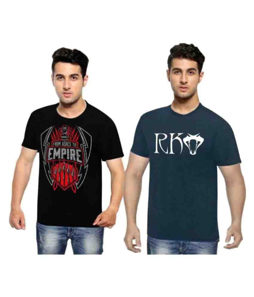 WWE Multi Round T-Shirt Pack of 2