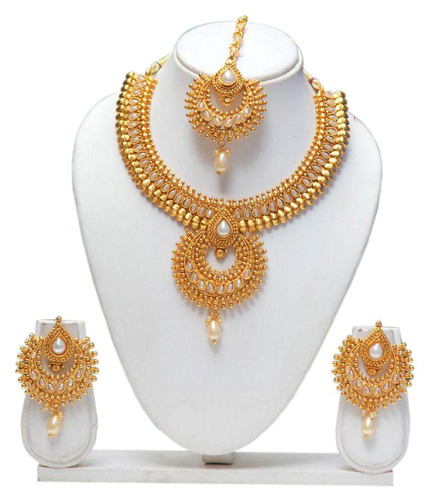 d460f4d89 Swarajshop Copper Golden Contemporary/Fashion Gold Plated Necklaces Set -  Buy Swarajshop Copper Golden Contemporary/Fashion Gold Plated Necklaces Set  Online ...