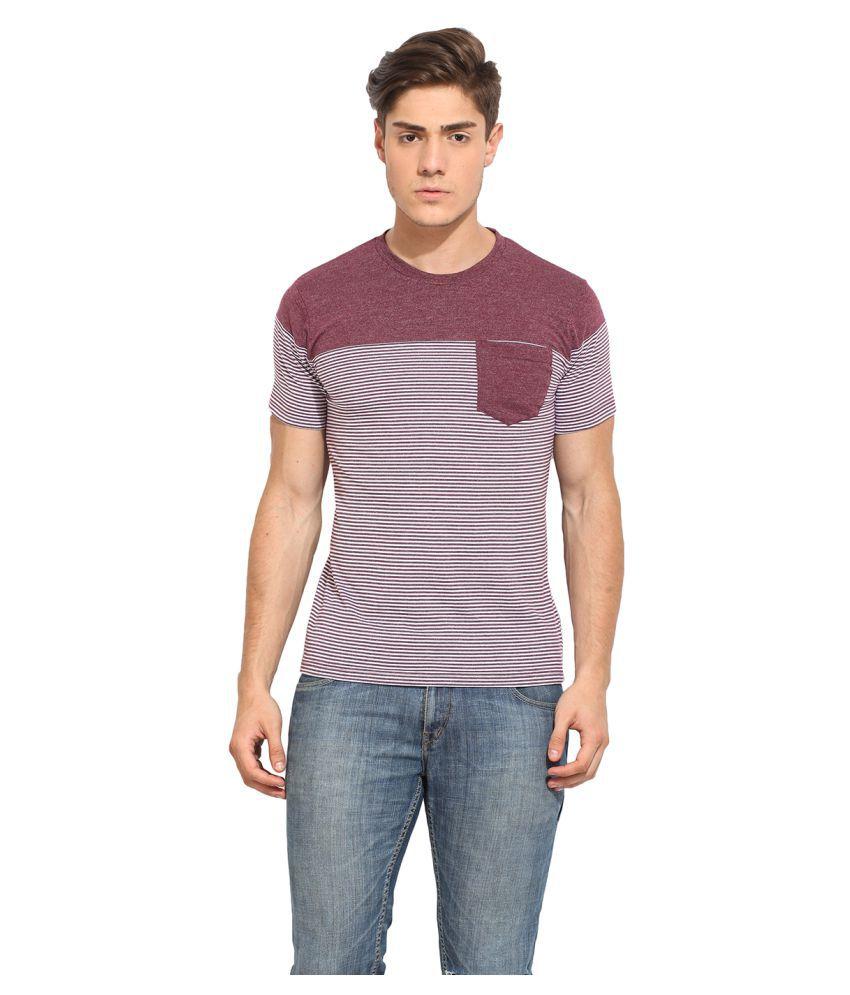 Western Vivid Brown Round T-Shirt