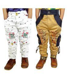 Ad & Av Multicolour Cargo Pant - Pack Of 2