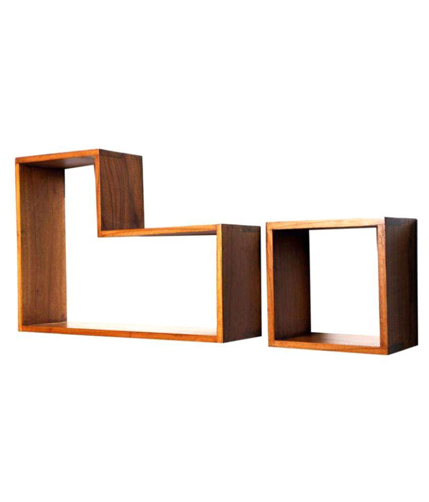 Kohinoor Wood Floating Shelf Wall Shelf Storage Shelf Decoration