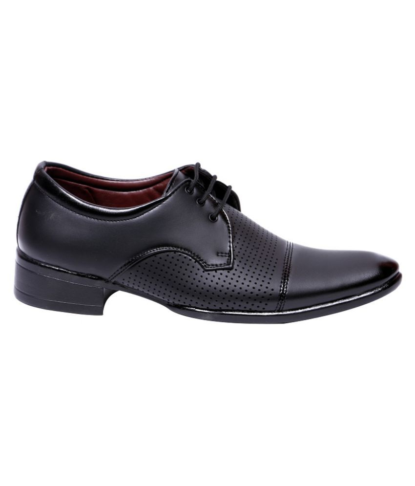 cheap sale view factory outlet for sale Aadi Black Derby Artificial Leather Formal Shoes outlet locations cheap price newest online bvxzHoMDB