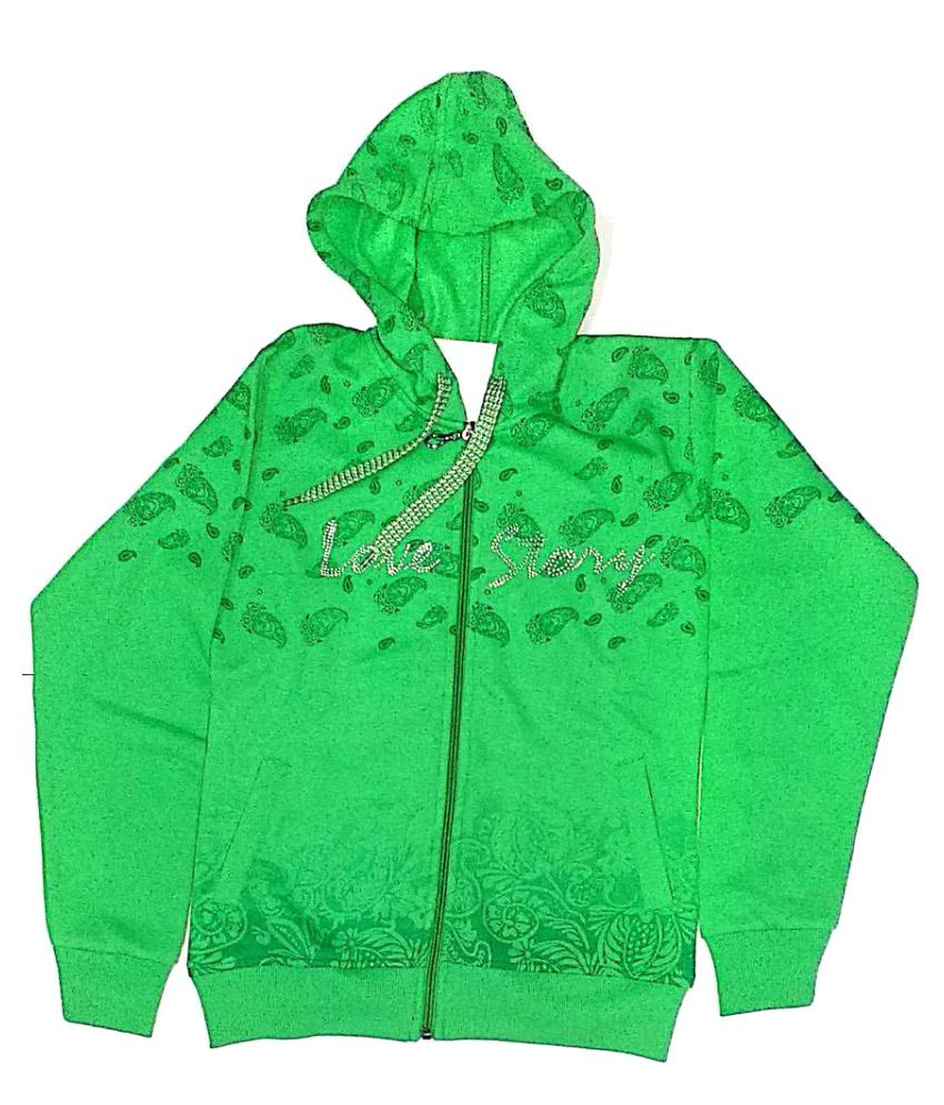 Cuddlezz Green Girls Sweatshirt
