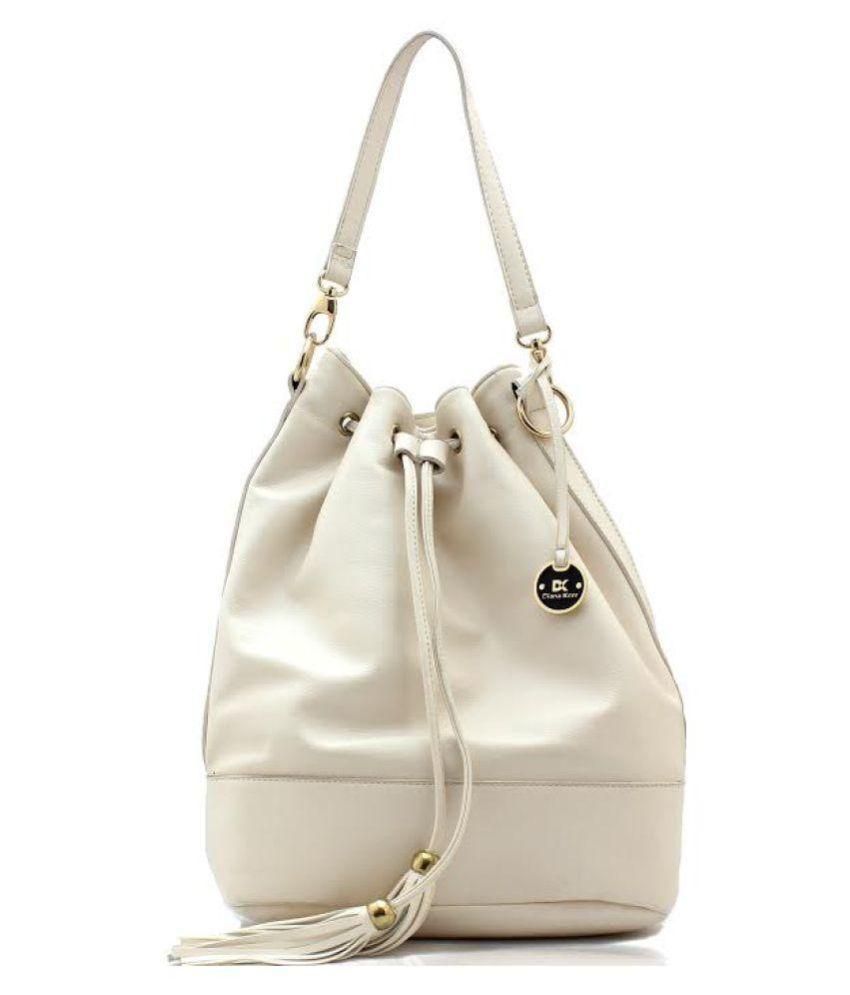 Diana Korr White Faux Leather Shoulder Bag - Buy Diana Korr White ...