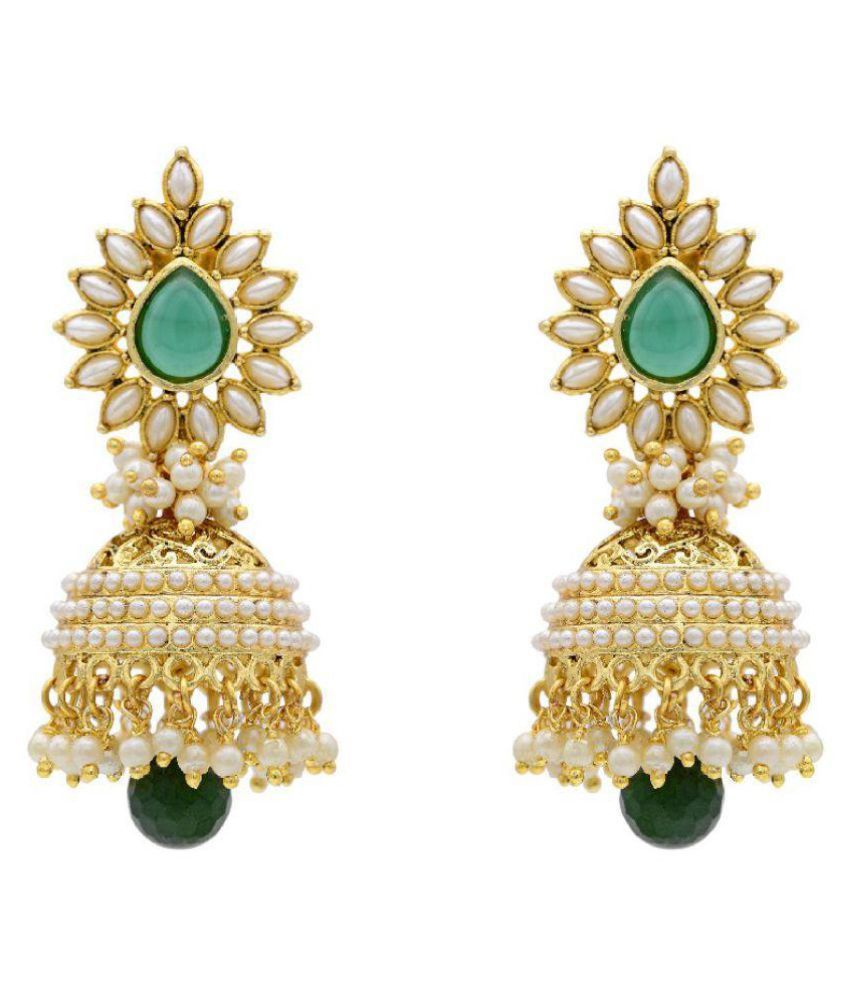 Youbella Gold Plated Jhumki Earrings