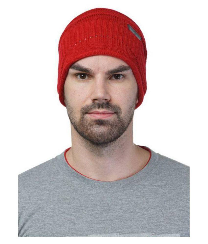 99dailydeals Red Knitted Wool Caps