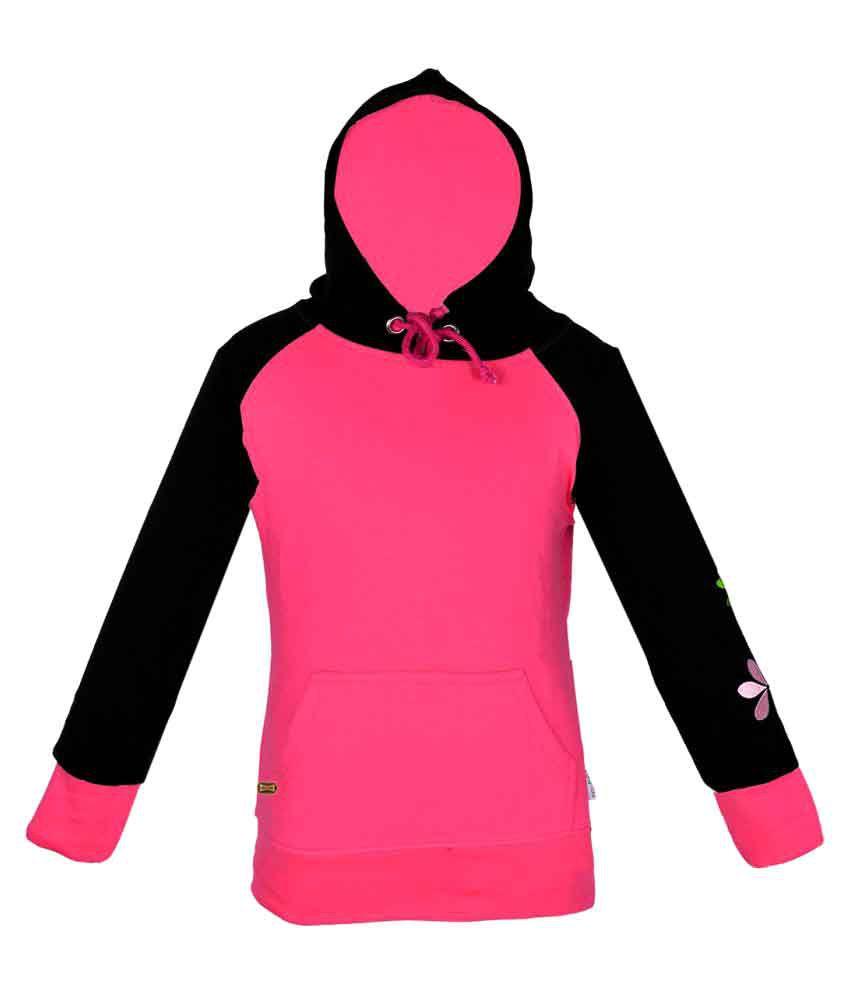 Gkidz Girls Hooded Full Sleeve Sweatshirt