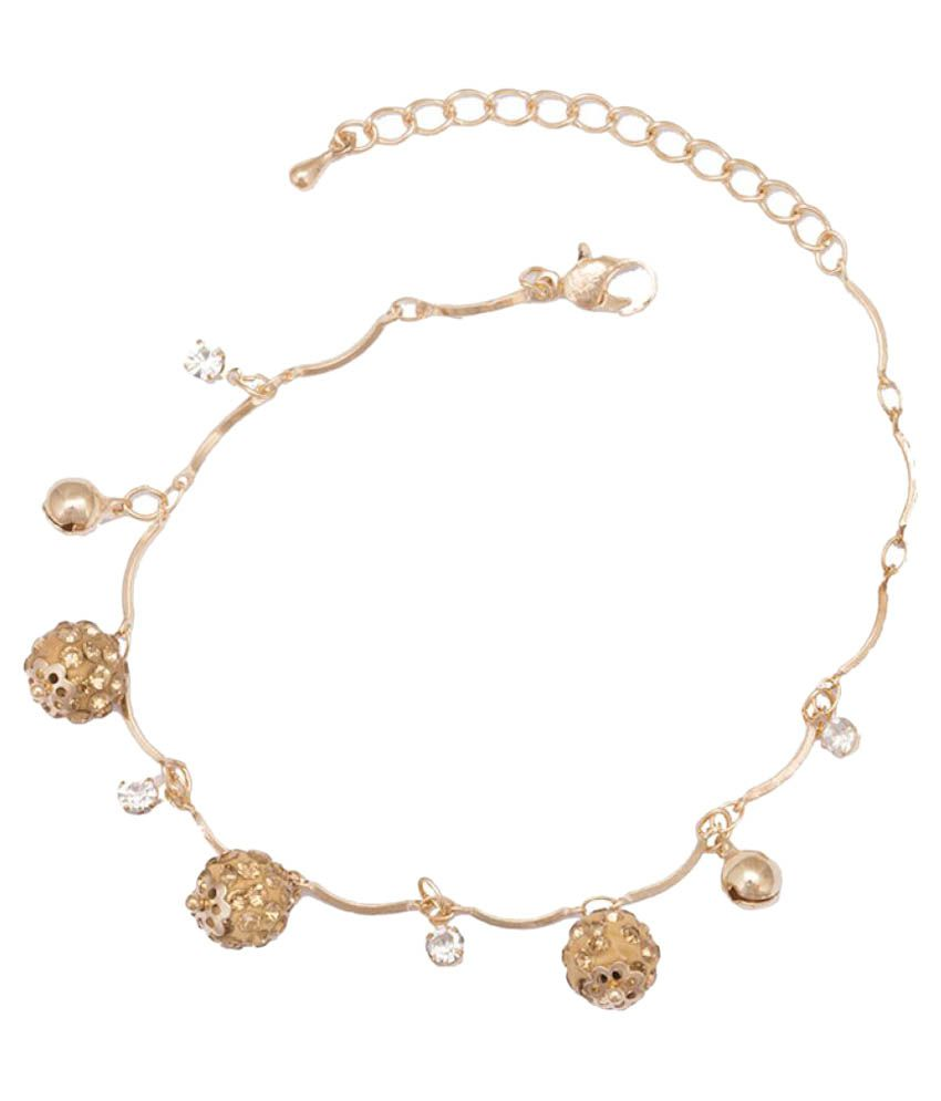 Glitters Online Golden Anklet - Pair of 1