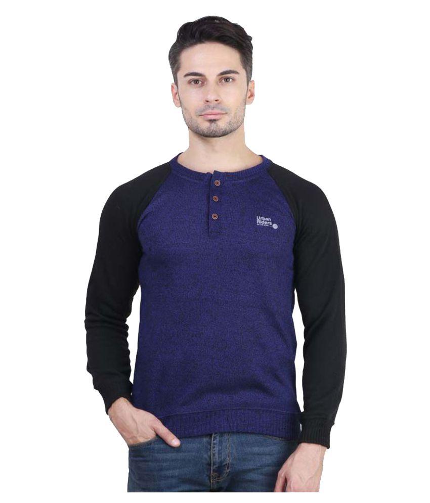 Bravezi Blue Henley T-Shirt