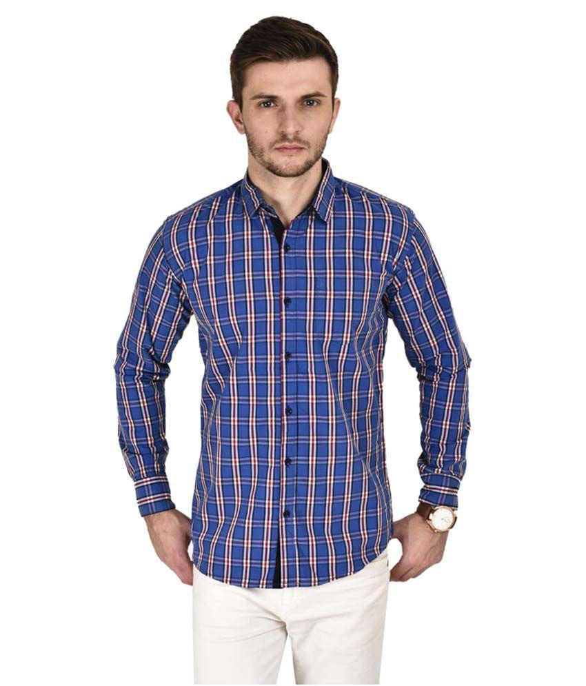 Kayadeals Blue Casuals Slim Fit Shirt