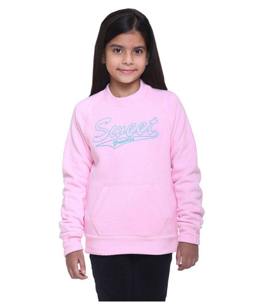 Kids-17 Pink Crew Neck  Sweatshirt