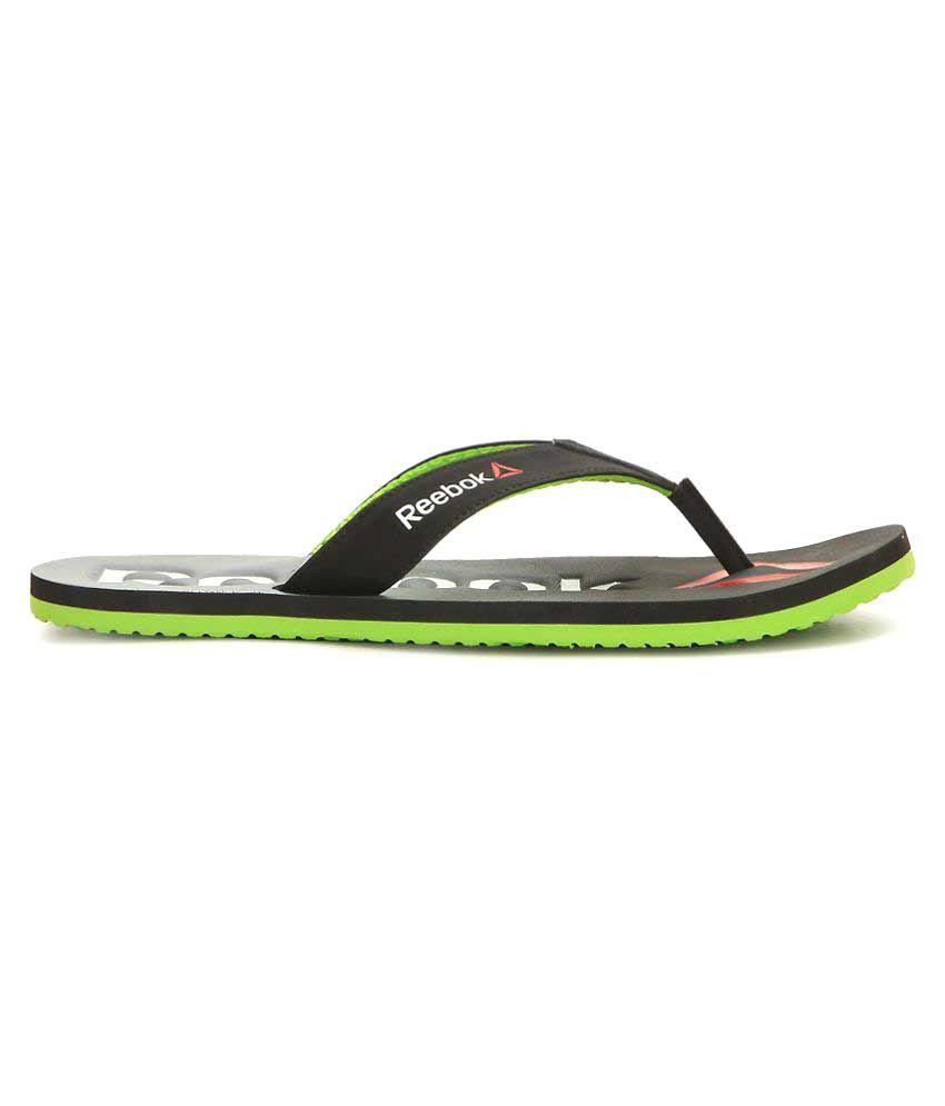 2dc82cf89 Reebok Embossed Flip Black Thong Flip Flop Price in India- Buy Reebok  Embossed Flip Black Thong Flip Flop Online at Snapdeal