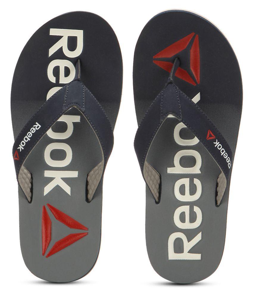0de3e3595 Reebok Embossed Flip Gray Thong Flip Flop Price in India- Buy Reebok Embossed  Flip Gray Thong Flip Flop Online at Snapdeal