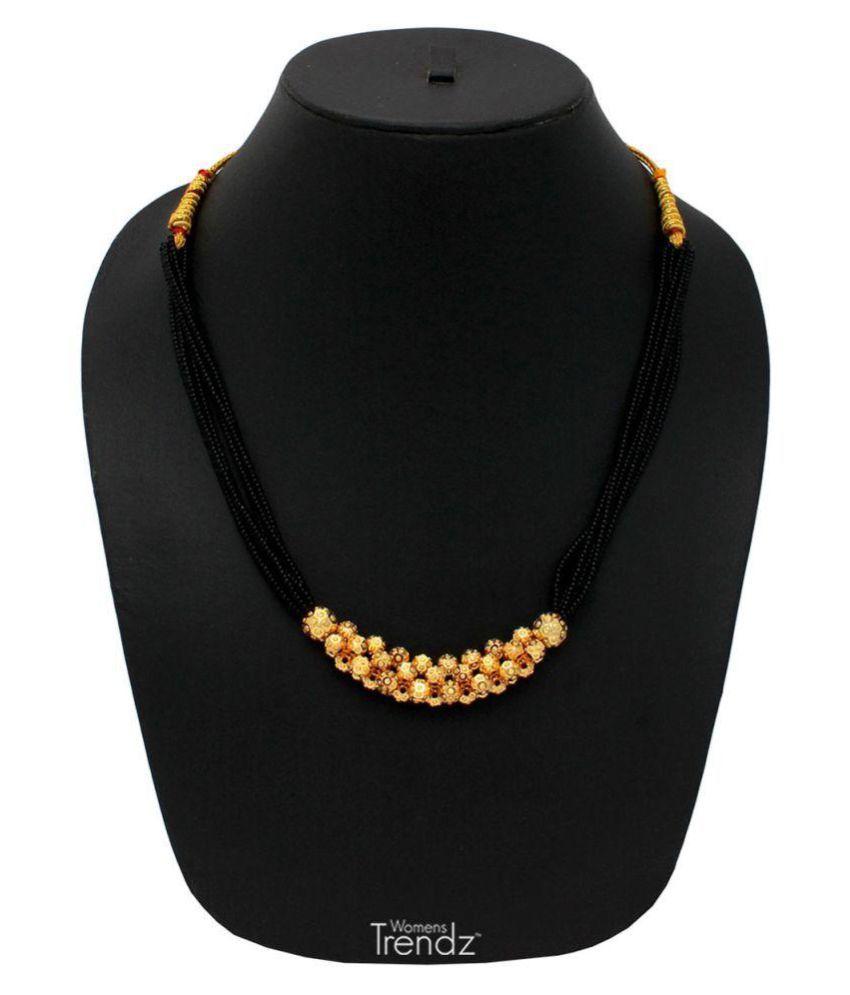 Womens Trendz Dot Mani Manchali  24K Gold Plated Alloy Mangalsutra