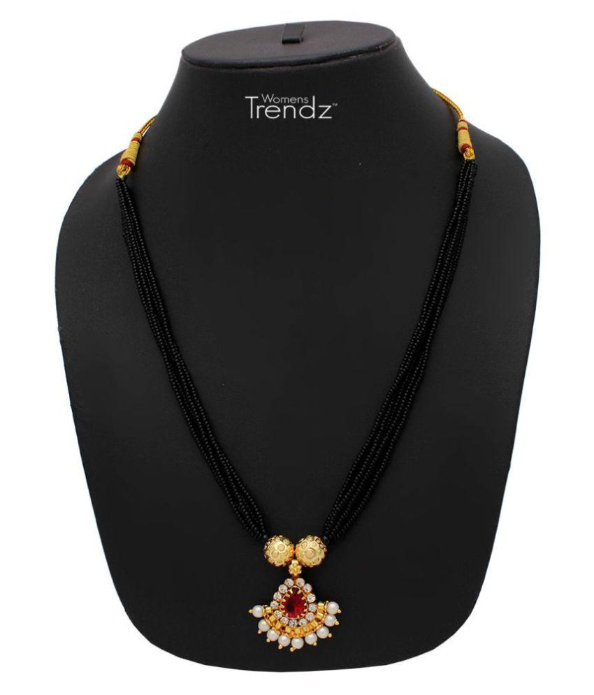 Womens Trendz Karwari Manchali 24K Gold Plated Alloy Mangalsutra