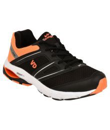 Campus Veedee Black Running Shoes