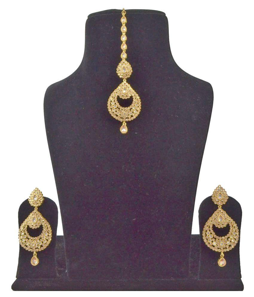 Saloni Fashion Jewellery Letest Bollywood Style Earring & Tika Set