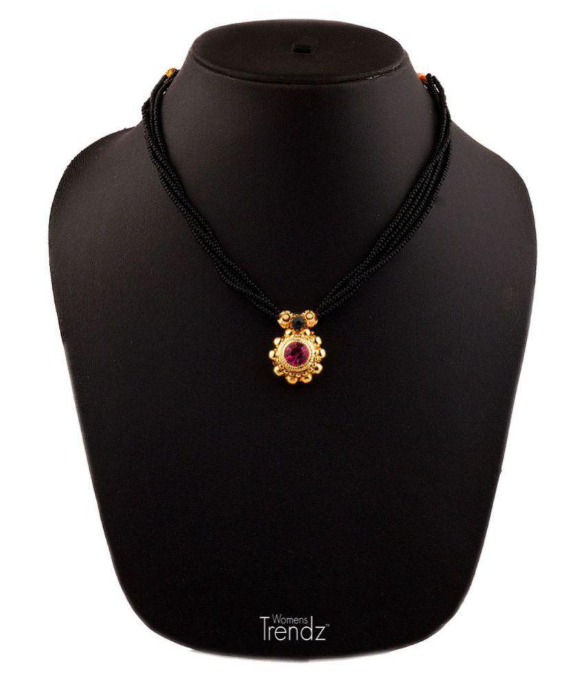 Womens Trendz Kolhapuri 24K Gold Plated Alloy Mangalsutra