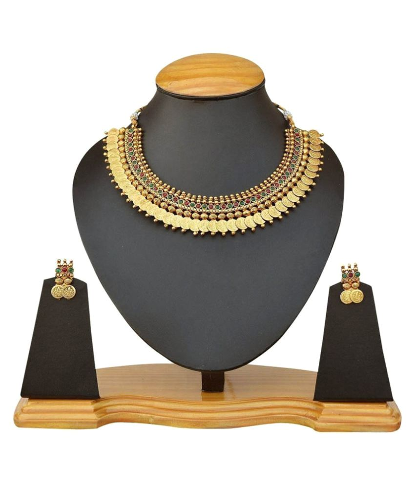 Schapes Enterprises Golden Copper Necklaces Set