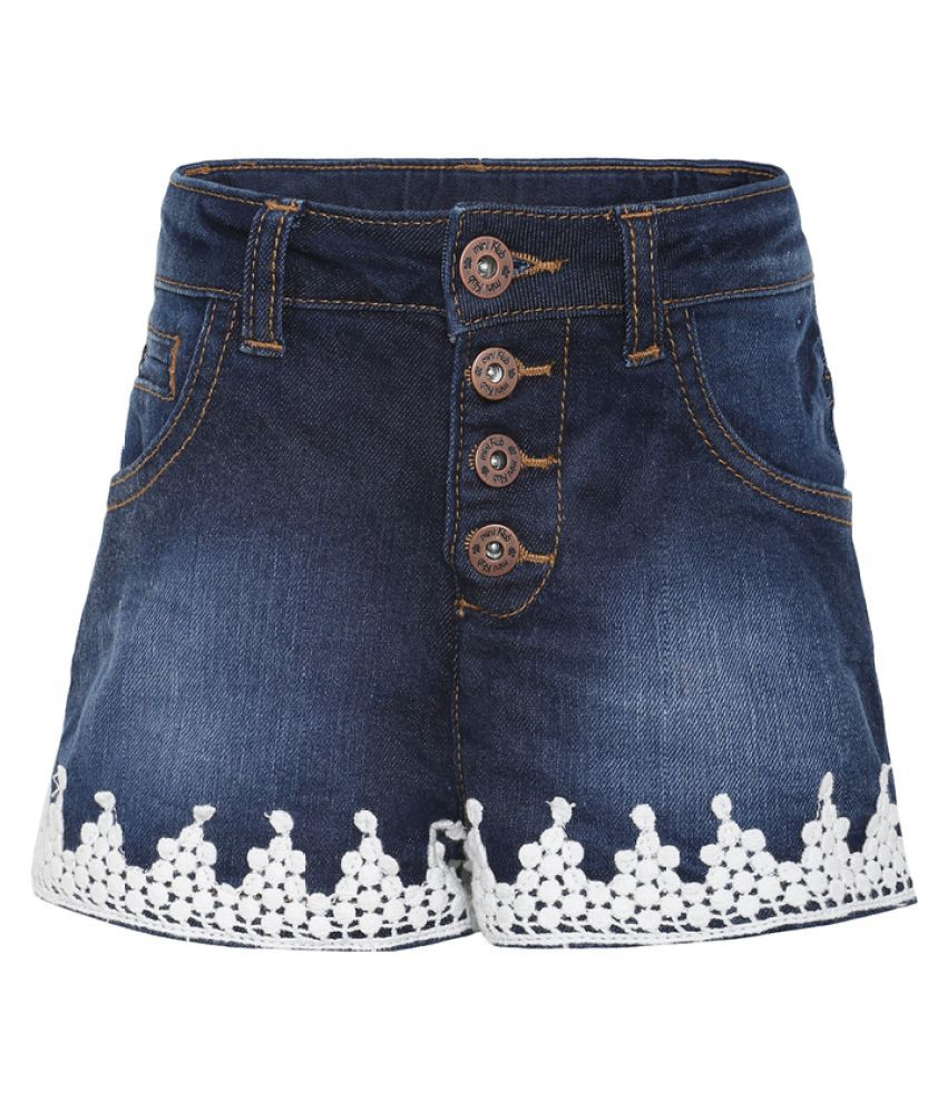 FS MiniKlub Girl's Denim Shorts-Dark Wash