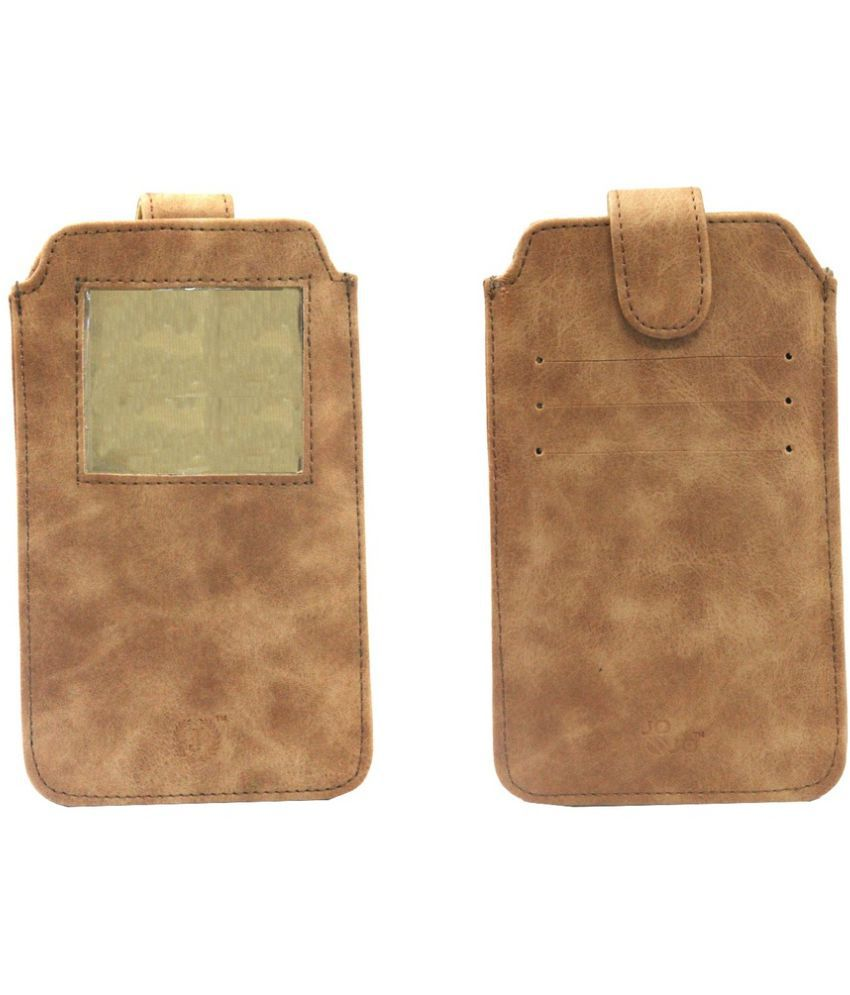 Micromax A116 Canvas HD Holster Cover by Jojo - Brown