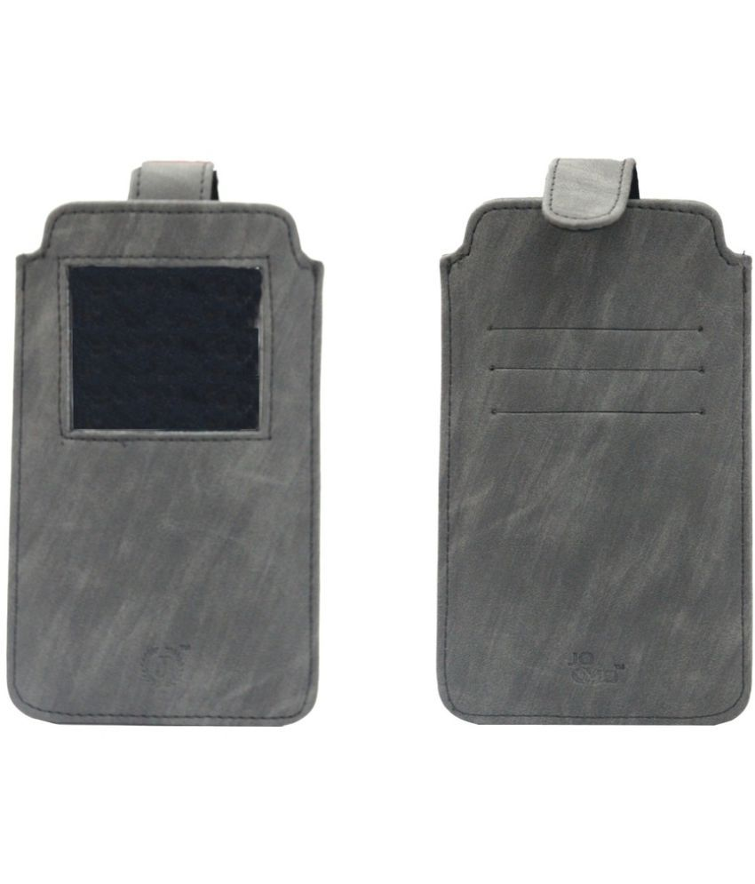 Micromax Canvas Doodle 2 A240 Holster Cover by Jojo - Grey