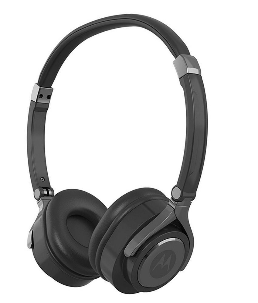 Motorola Pulse 2 Over Ear Wired Headphones With Mic (Black)