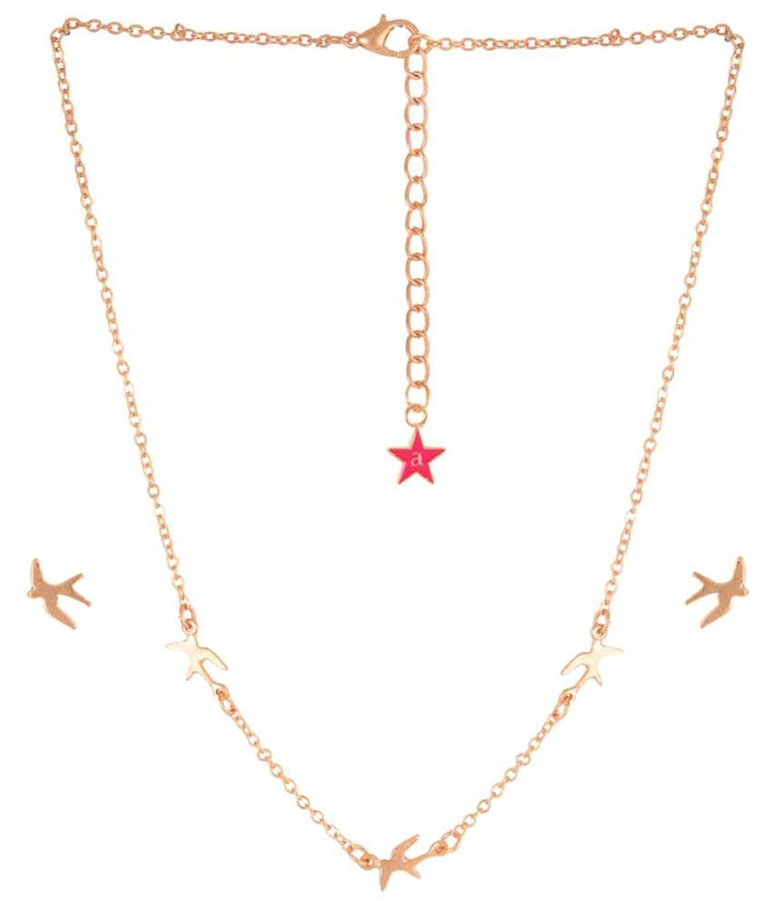 Ayesha Golden Necklace