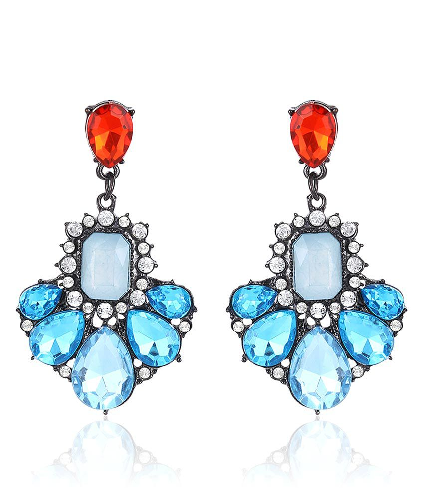 Hi Look Blue Alloy Hanging Earring