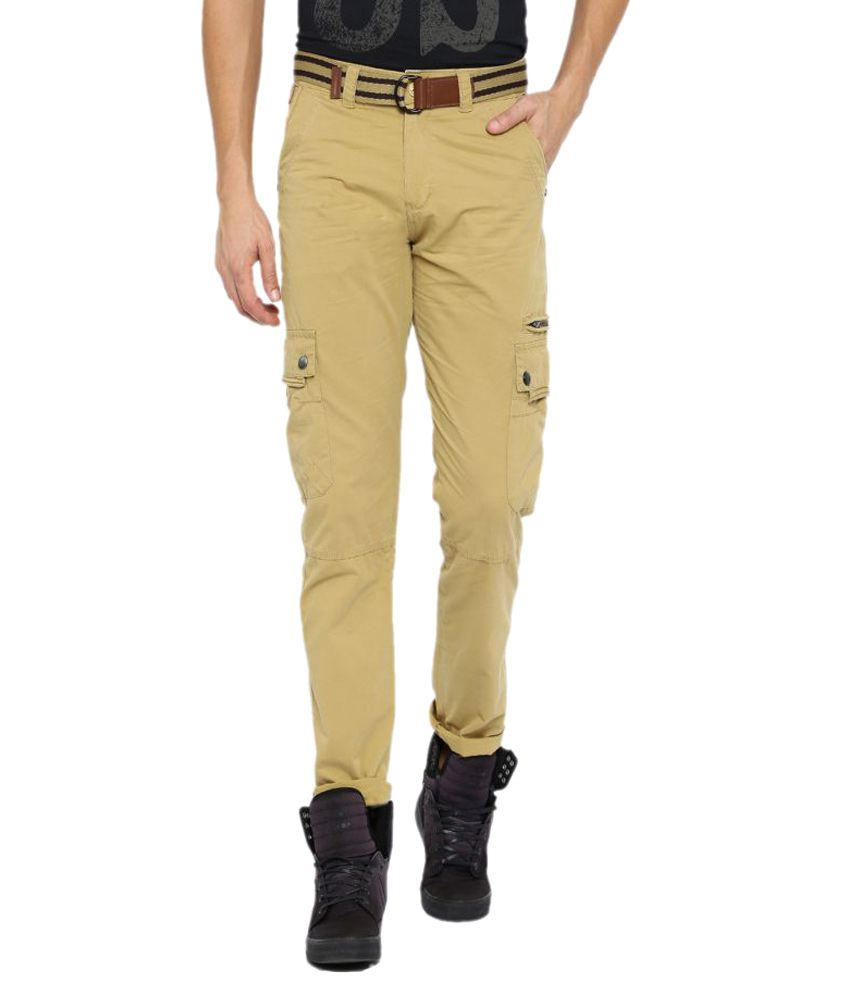 Sports 52 Wear Khaki Regular Flat Trouser