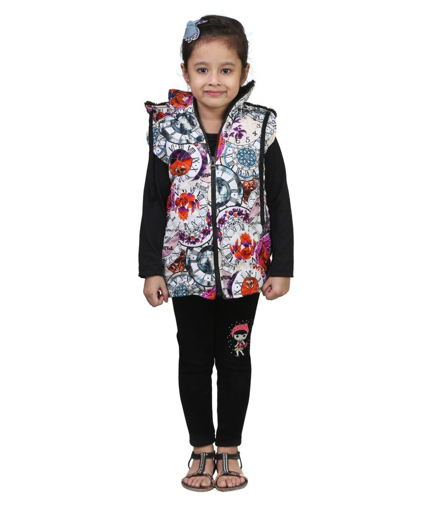 Crazeis Half Sleeve Jacket For Girls
