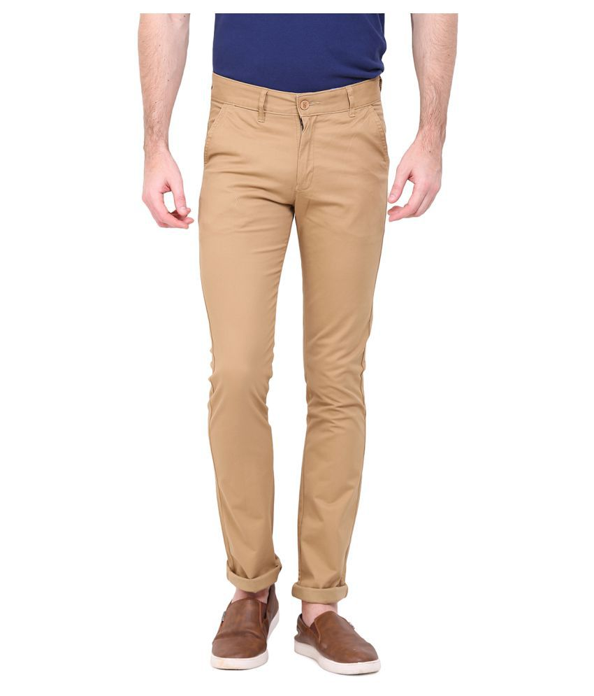 Duke Beige Slim Flat Trouser