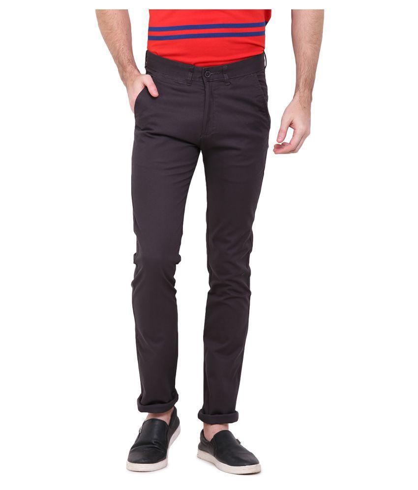Duke Brown Regular Flat Trouser