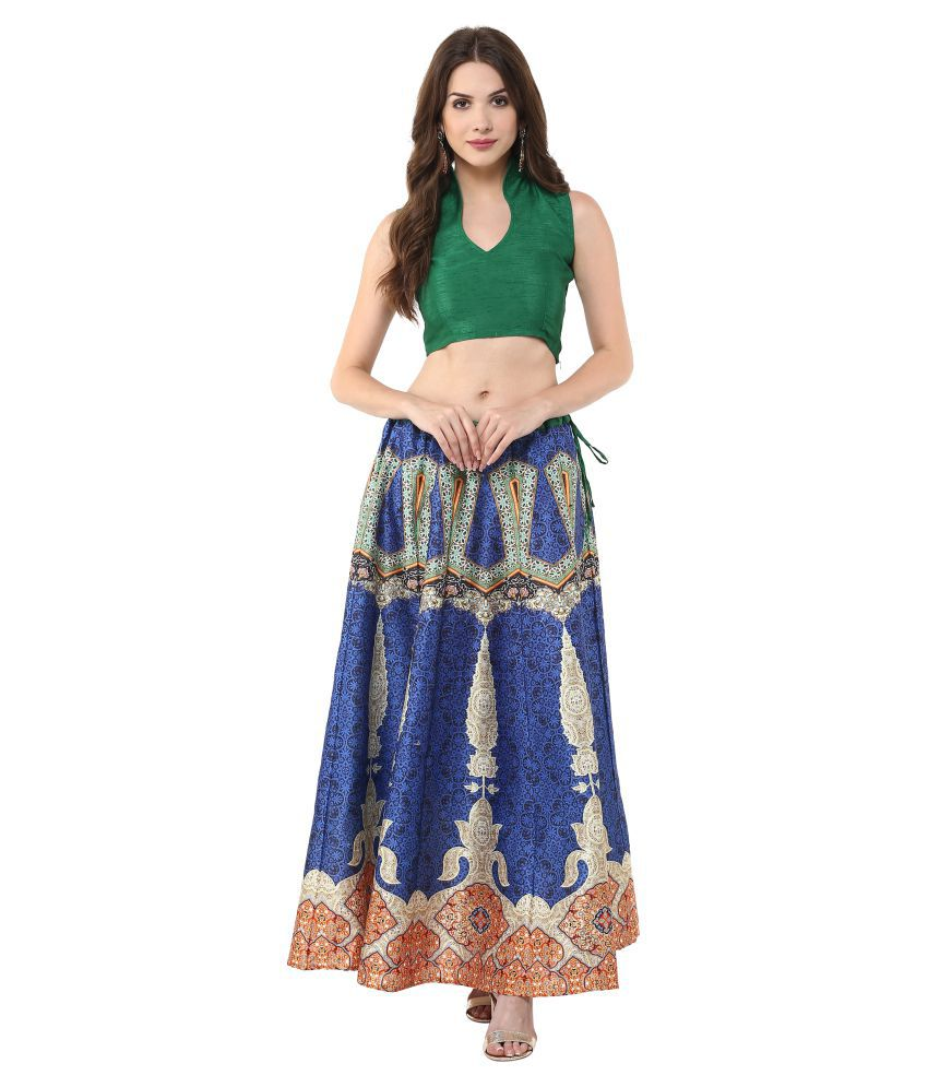 eaa9b4d68 Buy Janasya Silk Straight Skirt Online at Best Prices in India - Snapdeal