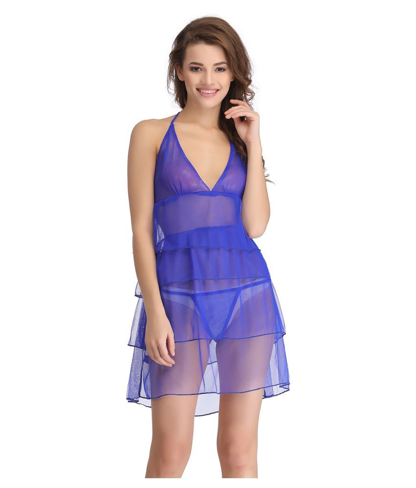 Buy Clovia Net Baby Doll Dresses With Panty Online at Best Prices in ... 81b67a3c4